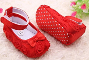 HELLODD Cute Newborn Baby Girl First Walking Shoes 11cm Red