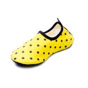 iBaste Kids Polka Dot Barefoot Water Skin Shoes for Beach Swim Surf Yoga Exercise
