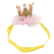 Baby Girl Princess Crown Headband Tiara for Photography Props Costume Party