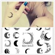1 Pc Temporary Waterproof Tattoo Decal Moon Shape Tattoo Sticker Body Art Tattoos TS002