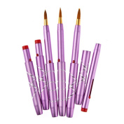 TimeSong 5Pcs Purple Makeup Lip Brush Cosmetic Lipstick Brush