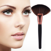 Fan- shaped makeup brushes set soft brush and bamboo handle premium synthetic kabuki foundation blending blush concealer make up tool big cosmetics brushes