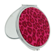 FMG Silver Plated Pink Leopardl Print Designed Cover With True & Magnification Image SC1428