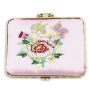Iebeauty.Silk Brocade Square Chinese Embroidery Makeup Mirrors