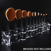 ZHUOTOP Pro Cosmetic Organiser Rack Acrylic Holder Stand For 10Pcs Toothbrush Makeup Brush Clear