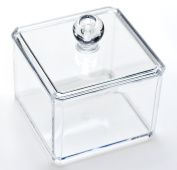 FiveSeasonStuff® Clear Acrylic Cosmetic Make-Up Cotton Ball Holder Organiser Container for Bathroom
