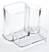 FiveSeasonStuff® Clear Acrylic Cosmetic Make-Up Organiser Holder with 3 Different Storage Compartments
