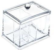 FiveSeasonStuff® Clear Acrylic Cosmetic Make-Up Organiser Holder with 4 Storage Compartments
