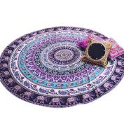 Clode® Hippy Boho Style Round Mandala Tapestry,Beach Throw Tapestry,Tablecloth Beach Towel or Round Meditation Yoga Mat