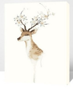 MADE4U [50cm ] [Wood Framed] Paint By Numbers Kit Canvas Mounted on Wood Frame with Brushes and Paints for [Home Decoration] Adults Children Seniors Junior DIY Bigginner Lever Arcylics Painting Kit on Canvas Deer HHGZG190-XL
