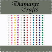 180 x 2mm Mixed Colours Diamante Self Adhesive Rhinestone Body Nail Vajazzle Gems - created exclusively for Diamante Crafts