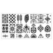 Nail Art DIY, Internet Nail Stamping Image Plate Nail Art Manicure Template 013