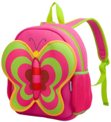 Nohoo Nursery Kids Girls Backpacks for school Toddler- Cute Butterfly Bag Red(13*10.3*12cm ) - Best Gift For 3-8 years old