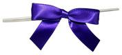 Reliant Ribbon 100 Piece Bow 2.5 Span X 1.75 Tails Twist Tie Ribbon, Purple Haze, 1.6cm