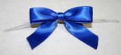 Reliant Ribbon 100 Piece Bow 2.5 Span X 1.75 Tails Twist Tie Ribbon, Royal, 1.6cm