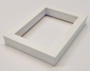 Shadowbox Gallery Wood Frames - Solid White, 5 x 7