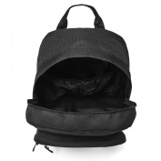 Hard Wearing Black Backpack Rucksack Plenty of Storage Perfect Bag for School College Uni with Laptop Compartment