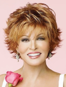 UPTOP Hair ® Synthetic Full Wig, Gold Short Length Straight Synthetic Fabulous Medium Wig For Woman