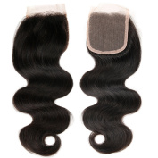 ZS Hair 4x 4 Free Part Lace Closure Brazilian body wave Natural Black 100% Virgin Human Hair