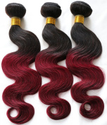 Ombre 2 Tone Brazilian Hair Body Wave Ombre Brazilian Hair Weave Bundles 1B BUG T Hair Products 7A Ombre Virgin Hair 300g red 1B 99J