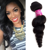 Black Rose Human Hiar Loose Weave Extensions Curl 1Bundles 30cm Natural Black Colour 100% Unprocessed Brazilian Virgin Hair Wave Bundles High Quality