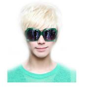Ewandastore New Fashion Punk Style Cool Male Straight Wig Man Men Short Platinum Blonde Rice White Straight Wig