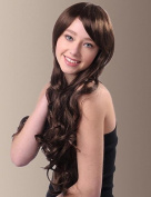 Temperament Long Wavy Synthetic Side Bangs Hair Wigs