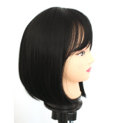 V'Nice® Bob Synthetic Lace Front Wigs for Black Women Silky Straight Heat Resistant Short Bob Wigs with Bangs