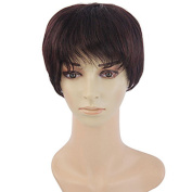 100% Brazilian Virgin human hair wig short Natural straight hair wig with bangs for Women