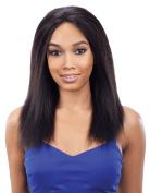 Natural Looking Coarse Italian Yaki Wig 1# Colour Kinky Straight Full Lace Wigs Human Virgin Hair Wigs for Black Women