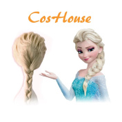 CosHouse Anime Wigs Light Blonde Cosplay Wig Halloween Wig Party Wigs Braid Hair Movie Costume for Adults