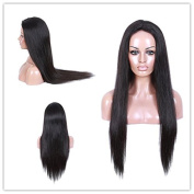 Natural Colour Silky Straight Brazilian Virgin Hair Full Lace Wigs For Black Women