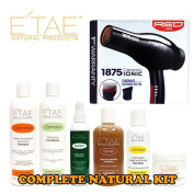 Etae Shampoo, Conditioner, Treatment, Buttershine, Gloss, Nutrient (6 items) with Red by Kiss 1875 Ceramic Ionic Blow Dryer