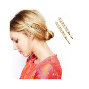 Girls* gold plated fashion pearl & Hair Clips & Barrettes *Hair Accessories* 12pcs/2sets