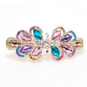 Beautyxyz elegant rhinestone Flowers hair accessory hair claw clip Barrette for wedding