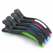 Mysweety 4PCS Croc Hair Styling Clips 4 colour Hair Clips