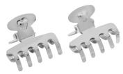 L. Erickson Mini Metal Jaw Pair - Silver