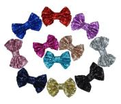 11pcs Baby Girl Cute Hair Bow Headbands Boutique Hair Head Accessories Alligator Hair Clips FJ09