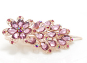 Beautyxyz. 10cm elegant rhinestones big flowers metal hair claw pin for woman