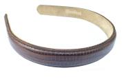 Wardani, 1.9cm Lizard headband handmade in USA of genuine Calfskin