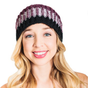 Women's Soft Knitted warm snoboarding ski Headband-Plum-One Size
