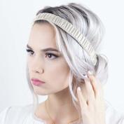 Scrunch Headband - Bone