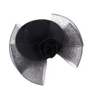 Drasawee Flower Girls Headpiece Wedding Communion Bowknot Hat Veil with Clips 6#