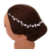 Elegant Designed Crystal Pearl Bridal Headdress Headband Hairpiece Wedding Hair Accessories
