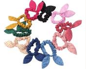 Ewandastore 10pcs Rabbit Ears Hair bands Rubber Band Hair Rope Hair Jewellery Hair Ring Headwear Hair Circle Hair Tie Female Women Girls Hair Accessories