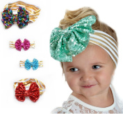 EUBUY 6pcs Baby Girls Toddler Bow Headbands Turban Hairband Headwear Head Wrap