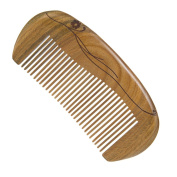 Casualfashion Natural Green Sandalwood Carved Designs Wooden Comb Hair Care Pocket Comb