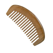 Casualfashion 1 Pcs Natural Green Sandal Wood Combs No Static Wide Teeth Curly Hair Comb