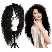 Wigshow Deep Curly Heat Resistant Lace Front Synthetic Hair Wigs For Black Women 60cm