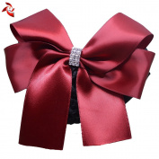 Xuanli® 2 Pcs Womens Hair Bun Cover Barrette Bow Snood Net Hair Clip Accessories Professional headdress flower